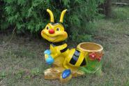 Biene zum Bepflanzen, PLANZKORB KÜBEL 55 cm groß, Dekofigur, Blumen, Figur