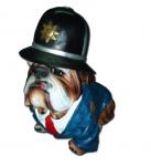 Hund Bulldog Plizist