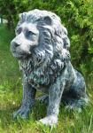 Löwe XXL Statue Löwe Torwächter sitzend 70 cm x65 cm groß