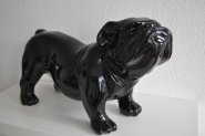 Bulldogge KUNSTBEMALUNG-Designer-Deko-Figur