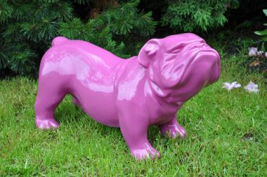 Englische Bulldogge 60 cm x 38 cm groß Designer Deko Figur