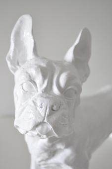 Französische Bulldogge Designer Deko Figur