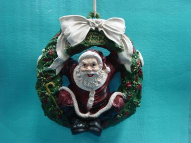 Weihnachtsmann im Türkranz