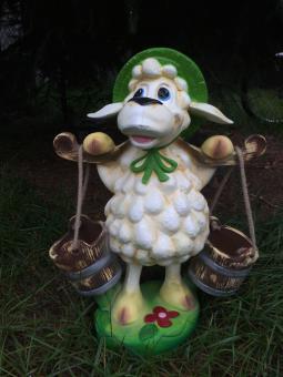 Schaf zum Bepflanzen 50 cm groß, Dekofigur, Blumen, Figur