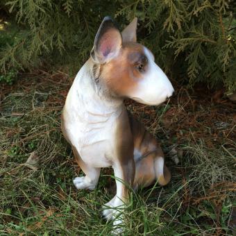 Bullterrier lebensechter Optik 45 cm groß DEKOFIGUR
