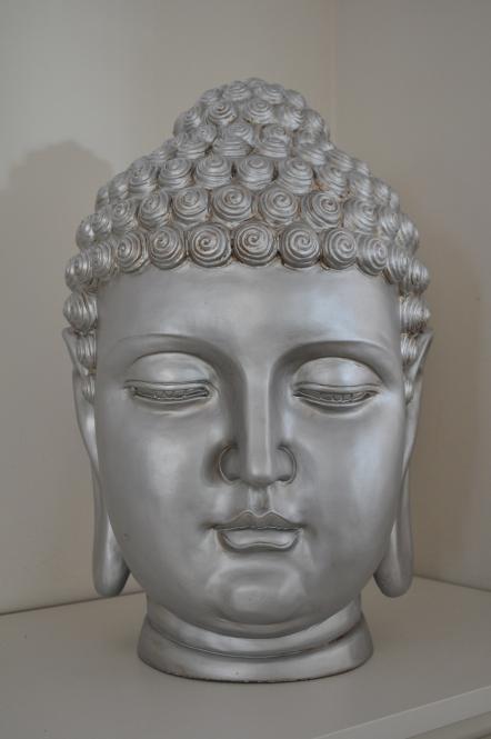 Buddha Feng Shui, KOPF, Silber