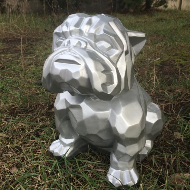 Bulldogge 45 cm groß Designer Deko Figur